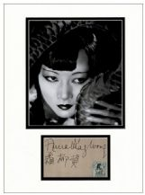 Anna May Wong Autograph Signed Display